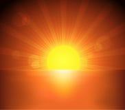 Mar y puesta del sol libre illustration