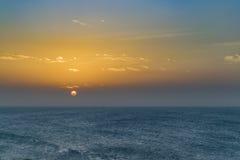 Mar y puesta del sol del top de la duna Jericoacoara el Brasil Fotografía de archivo