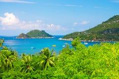 Mar y selva. isla hermosa de tao del ko. Tailandia imágenes de archivo libres de regalías