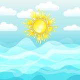 Mar y sol, fondo del verano Foto de archivo