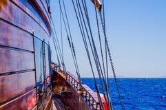 Mar y yate en el Mar Rojo Egipto Fotos de archivo