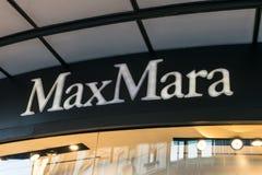 Знак магазина Макса Mara стоковая фотография