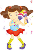 Maraca Girl Royalty Free Stock Image