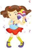 Maraca Girl Royalty Free Stock Image