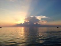 Maracaibo& x27; заход солнца озера s Стоковое Изображение