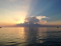 Maracaibo& x27 ηλιοβασίλεμα λιμνών του s Στοκ Εικόνα