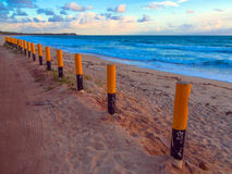 Maracaipe Beach at the sunset Stock Image