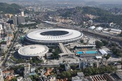 Maracanã stadium. RIO DE JANEIRO, BRAZIL - FEBRUARY 7, 2017- Aerial Photos of Maracana Stadium and its Sports Complex Stock Photo