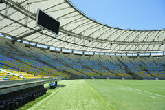 Maracana Football Stadium Seating and Pitch Royalty Free Stock Photo
