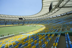 Maracana Football Stadium Seating and Pitch Royalty Free Stock Photos