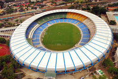 Maracana Stadium. Aerial Picture from Maracana - the biggest stadium of the world Stock Image
