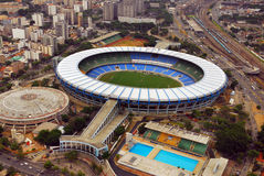 Maracana Stadium. Aerial Picture from Maracana - the biggest stadium of the world Royalty Free Stock Images