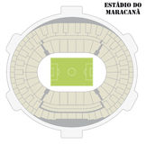 Maracana Stadium map Royalty Free Stock Images