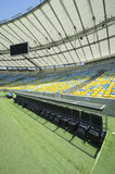 Maracana Stadium from Technical Area Dugout Royalty Free Stock Image