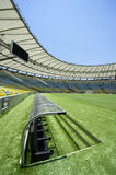 Maracana Stadium Technical Area and Pitch Rio de Janeiro Brazil Stock Photo