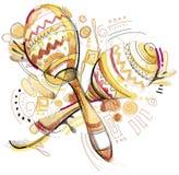 maracas stock illustratie