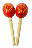Maracas. On a isolated background Royalty Free Stock Images