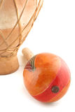 Maracas and drum royalty free stock photo