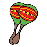 Maracas icon cartoon Stock Photography
