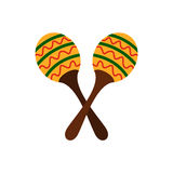 Maracas icon, flat style Stock Photos