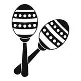 Maracas icon, simple style Royalty Free Stock Images