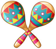 Maracas. Illustration of a pair of maracas Royalty Free Stock Images
