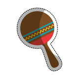 Maracas instrument isolated icon Royalty Free Stock Image