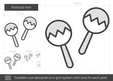 Maracas line icon. Stock Images