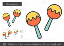 Maracas line icon. Royalty Free Stock Photography