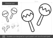 Maracas line icon. Royalty Free Stock Photo