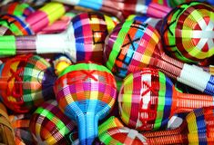 Maracas from Mexico Royalty Free Stock Images