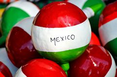 Maracas from Mexico. Zoom of colorful maracas from Mexico stock image