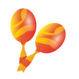 Maracas music instrument. Icon vector illustration graphic design Royalty Free Stock Photography