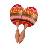 Maracas music instrument. Icon vector illustration graphic design Stock Image