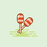 Maracas musical equipment icon vector illustration Royalty Free Stock Photography