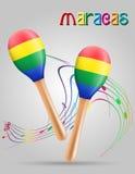 Maracas musical instruments stock vector illustration Royalty Free Stock Photo