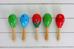 Maracas, musicial instrument Royalty Free Stock Image
