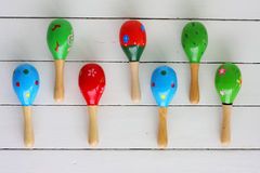 Maracas, musicial instrument stock photo