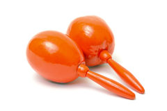 Maracas oranges Photographie stock libre de droits