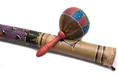 Maracas with rainstick isolated on white Stock Photography