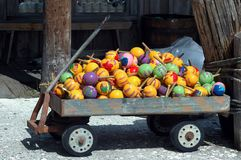 Maracas For Sale. Photographed maracas for sale in a wagon at a local outdoor market in Key West, Florida Stock Photos