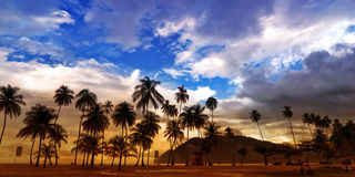 Maracas Strand - Panorama Lizenzfreie Stockbilder