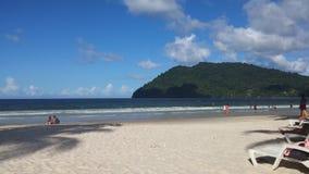 Maracas strand Trinidad Fotografering för Bildbyråer