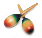 Maracas on white background Royalty Free Stock Photos