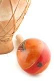 Maracas y tambor Foto de archivo libre de regalías