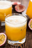Maracuja Juice with fresh fruits Royalty Free Stock Image