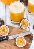 Maracuja Juice with fresh fruits Stock Photos