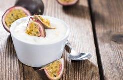 Maracuja Yogurt Royalty Free Stock Images