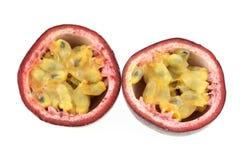 Maracuya passion fruit. Isolated on white stock photo