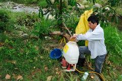 Maracuya plantation fumigating Royalty Free Stock Photo